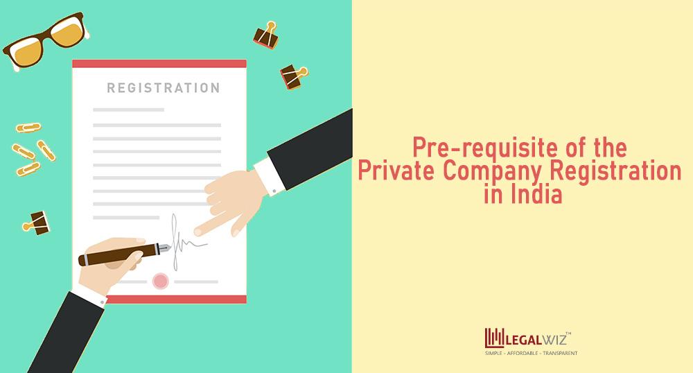 pre-requisite for private company