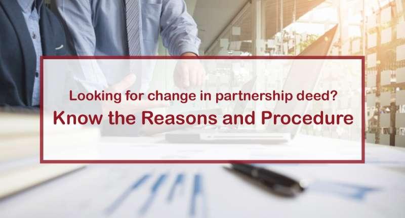 Change in Partnership Deed India