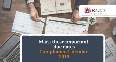 LegalWiz.in Compliance Calendar 2019